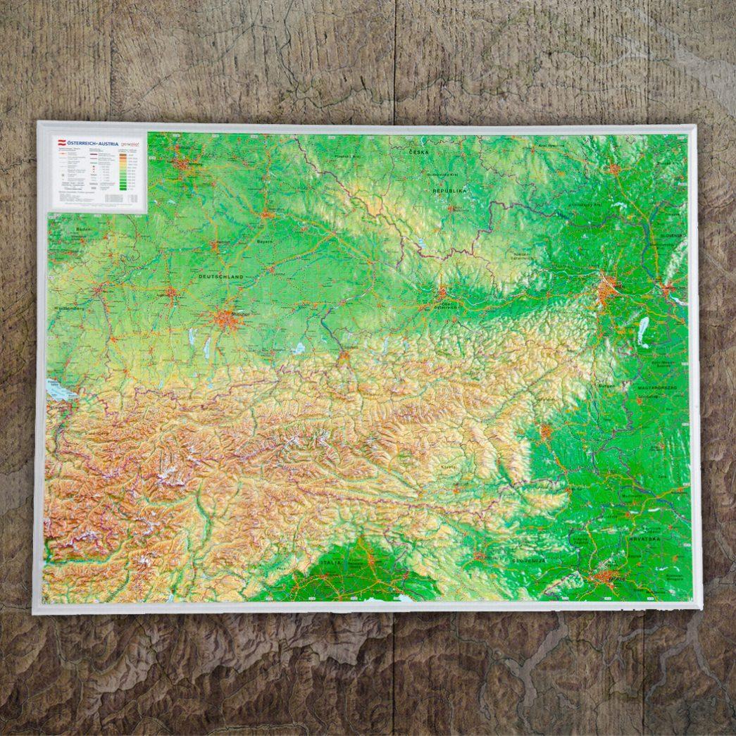 3d-Reliefkarte Österreich