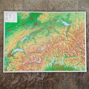 3d-Reliefkarte Schweiz