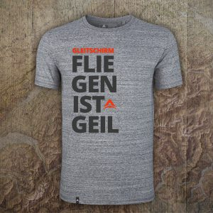T-Shirt Fliegen ist geil - Heather Slub Grey