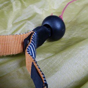 Abgeflogen BrakeBalls (1 Paar) - Ohne Schlitz schwarz (Leinenknoten muss geöffnet werden)