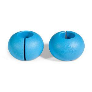 Abgeflogen BrakeBalls (1 Paar) - Mit Schlitz blau (Befestigung ohne öffnen des Leinenknotens)
