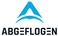 Abgeflogen Logo